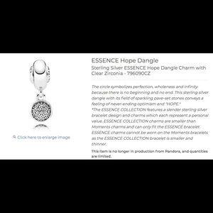Pandora Jewelry - pandora necklace with HOPE charm